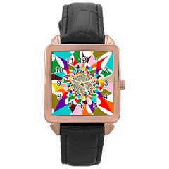 Focus Rose Gold Leather Watch
