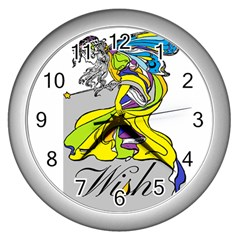 Faerie Wish Wall Clock (Silver)