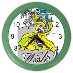 Faerie Wish Wall Clock (Color)