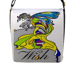Faerie Wish Flap Closure Messenger Bag (Large)