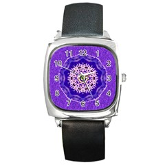 Sarah Square Leather Watch