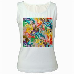 Marble Women s Tank Top (white)