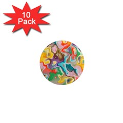 Marble 1  Mini Button Magnet (10 Pack)