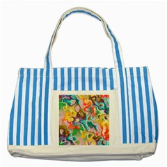 MARBLE Blue Striped Tote Bag