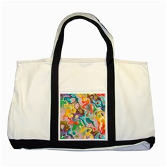 MARBLE Two Toned Tote Bag