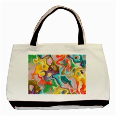 MARBLE Twin-sided Black Tote Bag