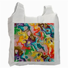 Marble White Reusable Bag (one Side)