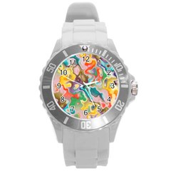 Marble Plastic Sport Watch (large)