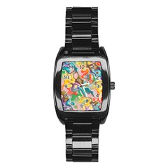 MARBLE Stainless Steel Barrel Watch