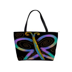 Funky Abstract Butterfly Large Handbag