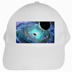 Wormhole2 White Baseball Cap