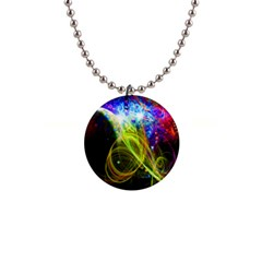 Cosmos Button Necklace