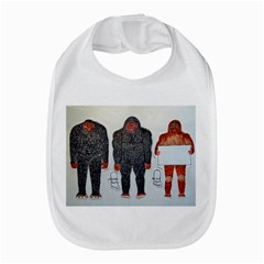 3 Bigfoot, H, A, S, On White, Bib