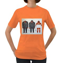 3 Bigfoot, H, A, S, On White, Women s T-shirt (Colored)