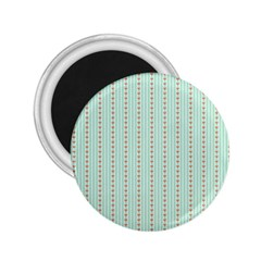 Hearts & Stripes 2.25  Button Magnet