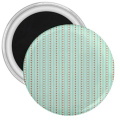 Hearts & Stripes 3  Button Magnet