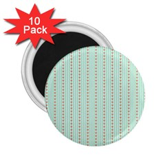 Hearts & Stripes 2 25  Button Magnet (10 Pack)