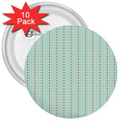Hearts & Stripes 3  Button (10 pack)
