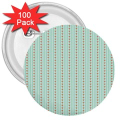 Hearts & Stripes 3  Button (100 pack)