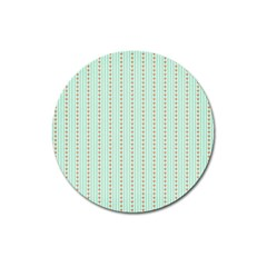 Hearts & Stripes Magnet 3  (Round)
