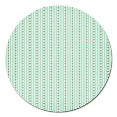 Hearts & Stripes Magnet 5  (round)