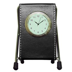 Hearts & Stripes Stationery Holder Clock