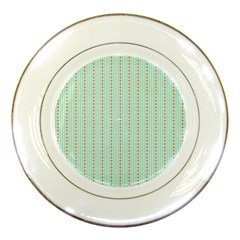 Hearts & Stripes Porcelain Display Plate