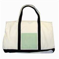 Hearts & Stripes Two Toned Tote Bag