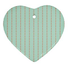 Hearts & Stripes Heart Ornament (Two Sides)