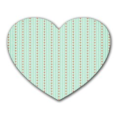 Hearts & Stripes Mouse Pad (Heart)