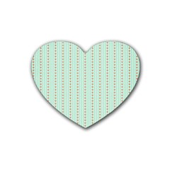 Hearts & Stripes Drink Coasters (heart)