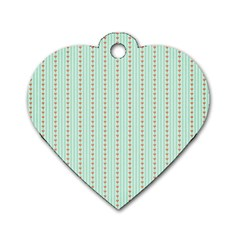 Hearts & Stripes Dog Tag Heart (One Sided)