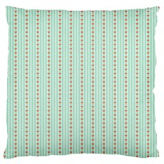Hearts & Stripes Large Cushion Case (two Sided)