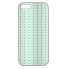 Hearts & Stripes Apple Seamless Iphone 5 Case (clear)
