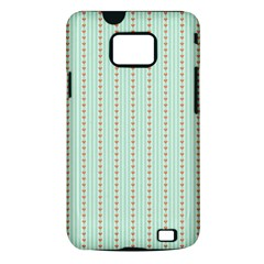 Hearts & Stripes Samsung Galaxy S II i9100 Hardshell Case (PC+Silicone)