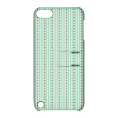 Hearts & Stripes Apple iPod Touch 5 Hardshell Case with Stand