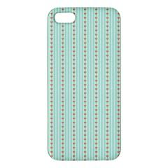 Hearts & Stripes iPhone 5S Premium Hardshell Case
