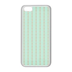 Hearts & Stripes Apple iPhone 5C Seamless Case (White)