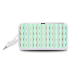 Hearts & Stripes Portable Speaker (White)