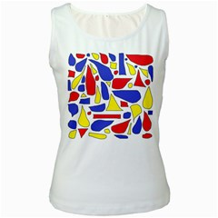 Silly Primaries Women s Tank Top (White)