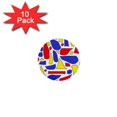 Silly Primaries 1  Mini Button (10 pack)