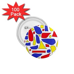 Silly Primaries 1 75  Button (100 Pack)