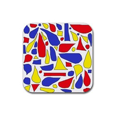 Silly Primaries Drink Coasters 4 Pack (Square)