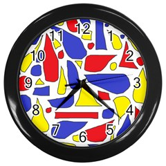 Silly Primaries Wall Clock (Black)