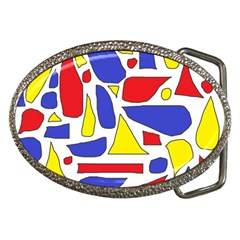Silly Primaries Belt Buckle (oval)