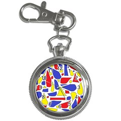 Silly Primaries Key Chain Watch