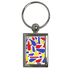Silly Primaries Key Chain (Rectangle)