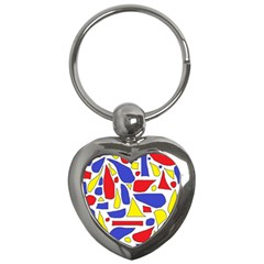 Silly Primaries Key Chain (Heart)