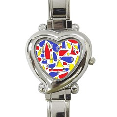 Silly Primaries Heart Italian Charm Watch