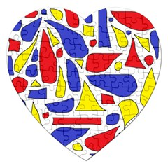 Silly Primaries Jigsaw Puzzle (heart)
